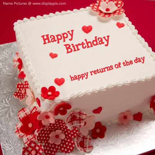 Cake Images With Name Preeti : Happy Birthday Cake with Name Edit happy birthday cake ...