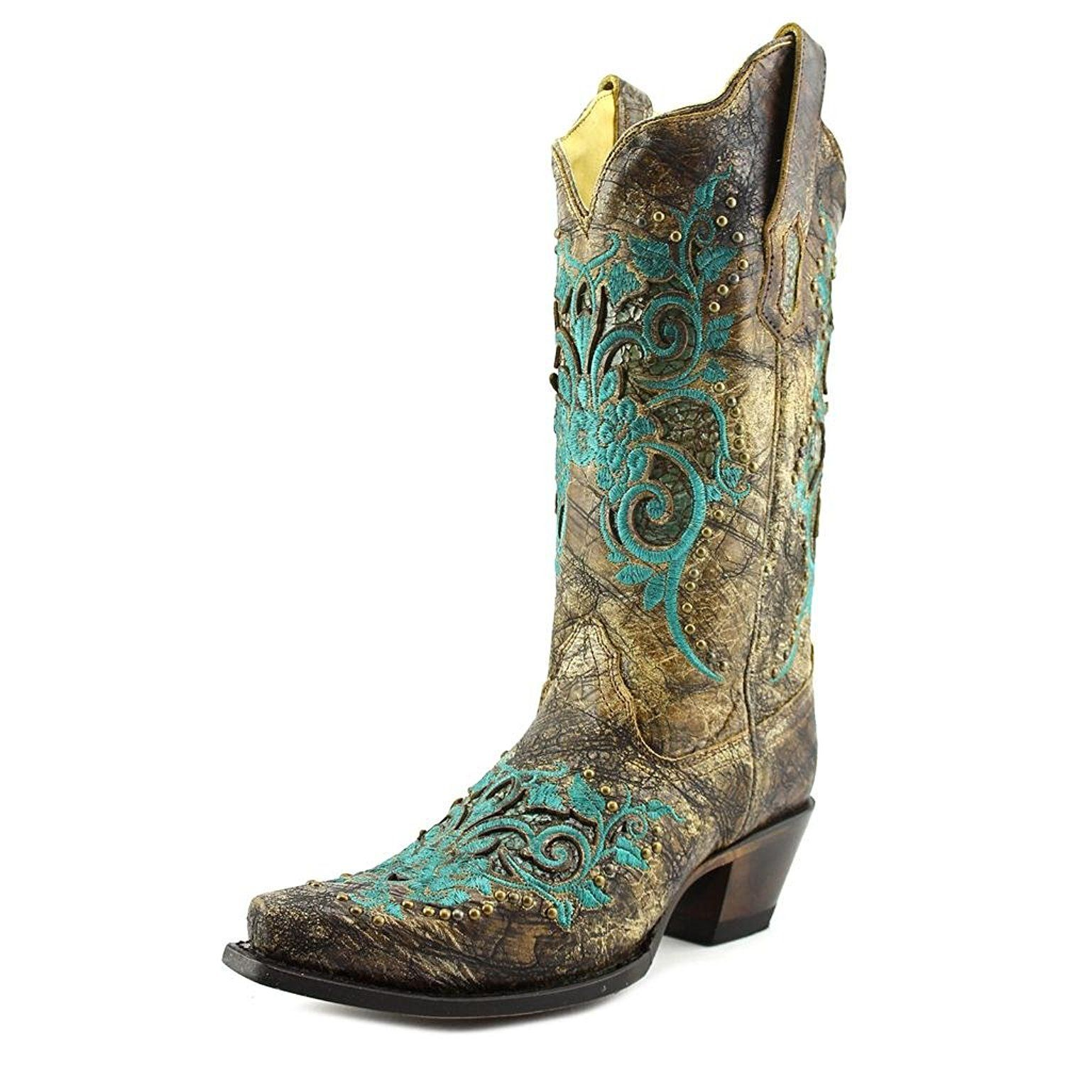 Corral Women's Inlay And Studs Western Boots *** Check out this great product.