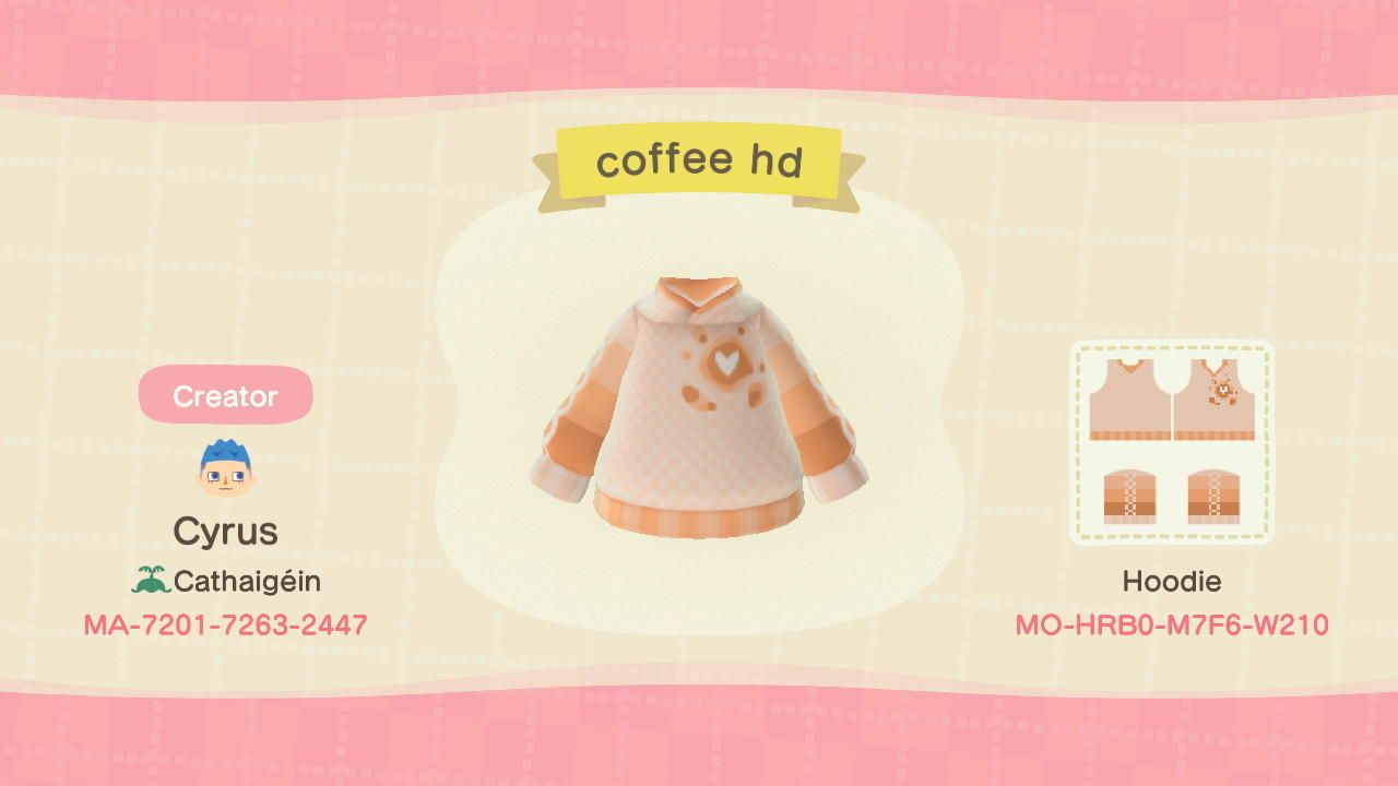 Coffee Hoodie - Animal Crossing: New Horizons Custom Design | Nook's Island