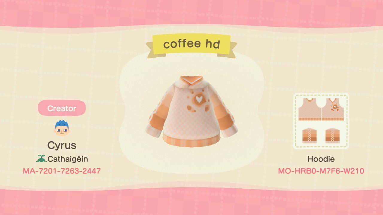 Coffee Hoodie - Animal Crossing: New Horizons Custom Design | Nook's Island