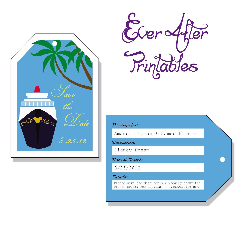 cruise/disney cruise invitation | disney magic cruise | pinterest, Wedding invitations