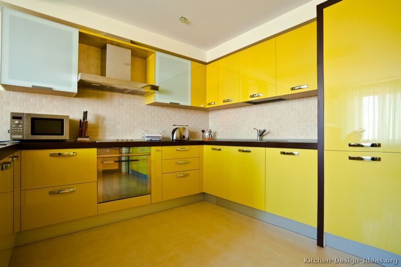 Pictures Of Kitchens Modern Yellow Kitchens Kitchen 7 Modern Kitchen Design Kitchen Tiles Design Yellow Kitchen Cabinets
