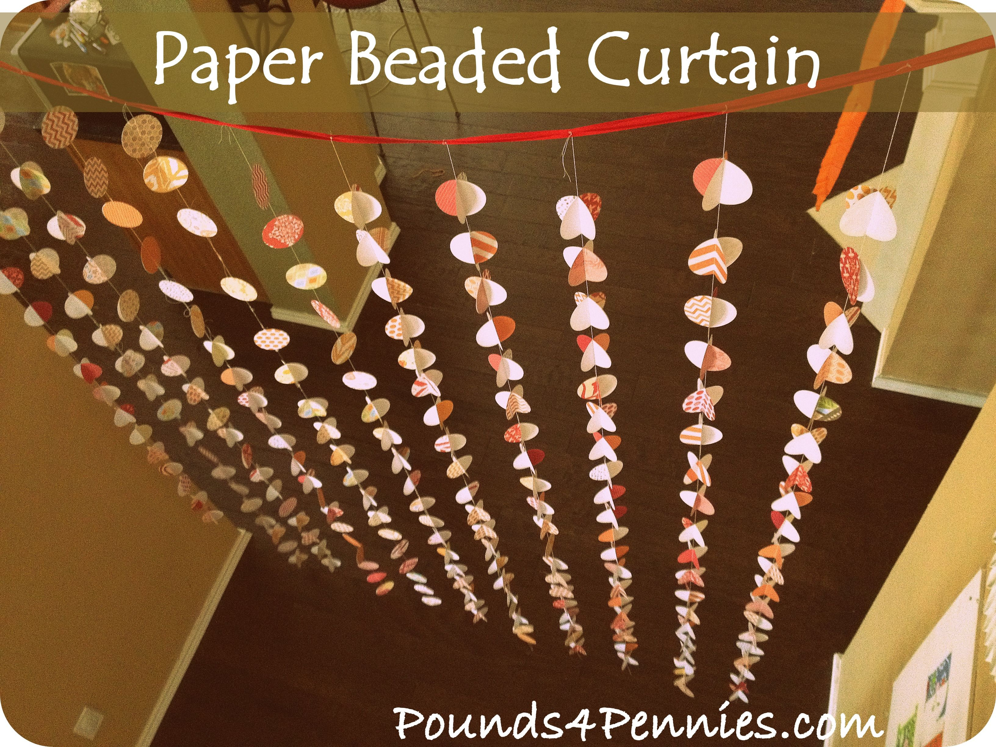 Awesome tween party ideas paper beaded curtain beaded