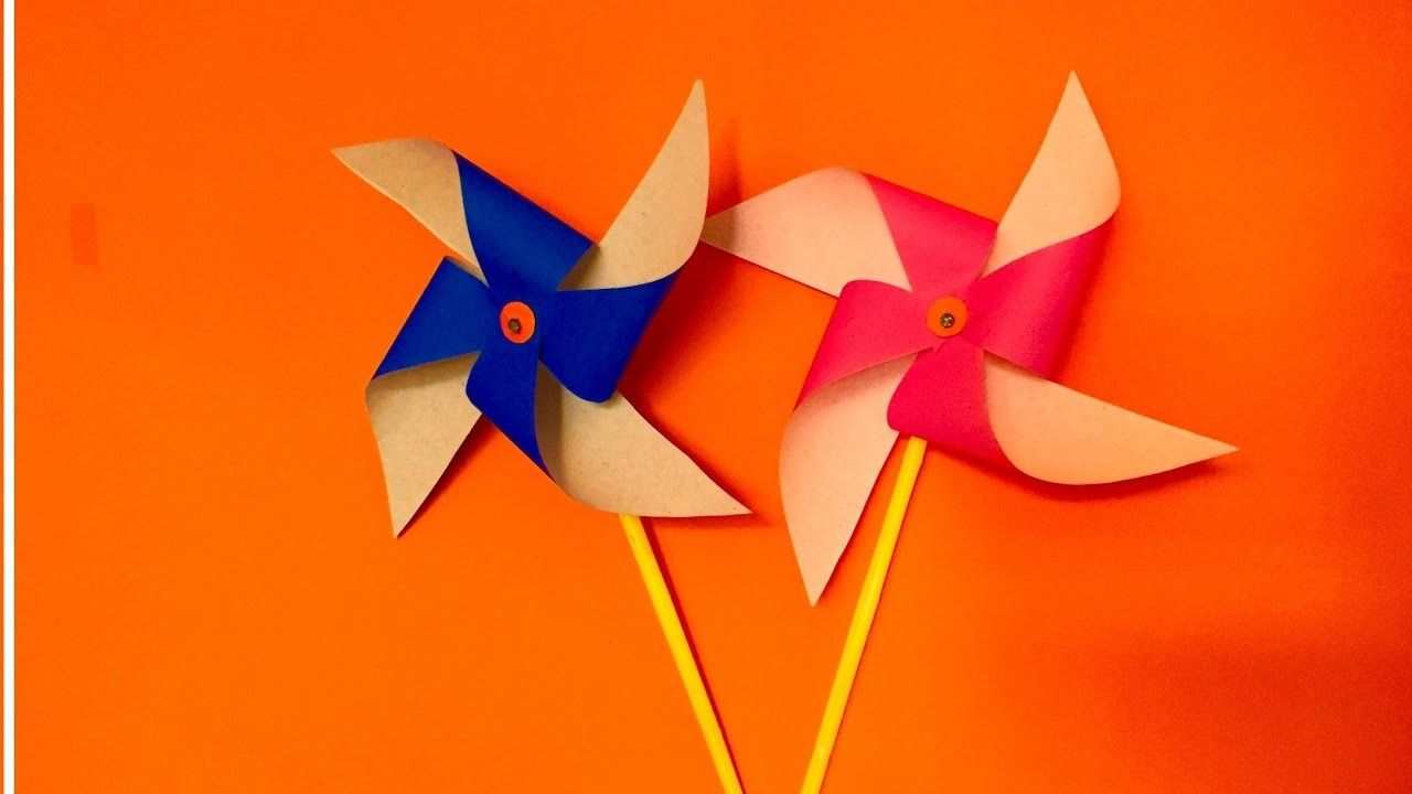 How to make Paper Pinwheel craft for kids