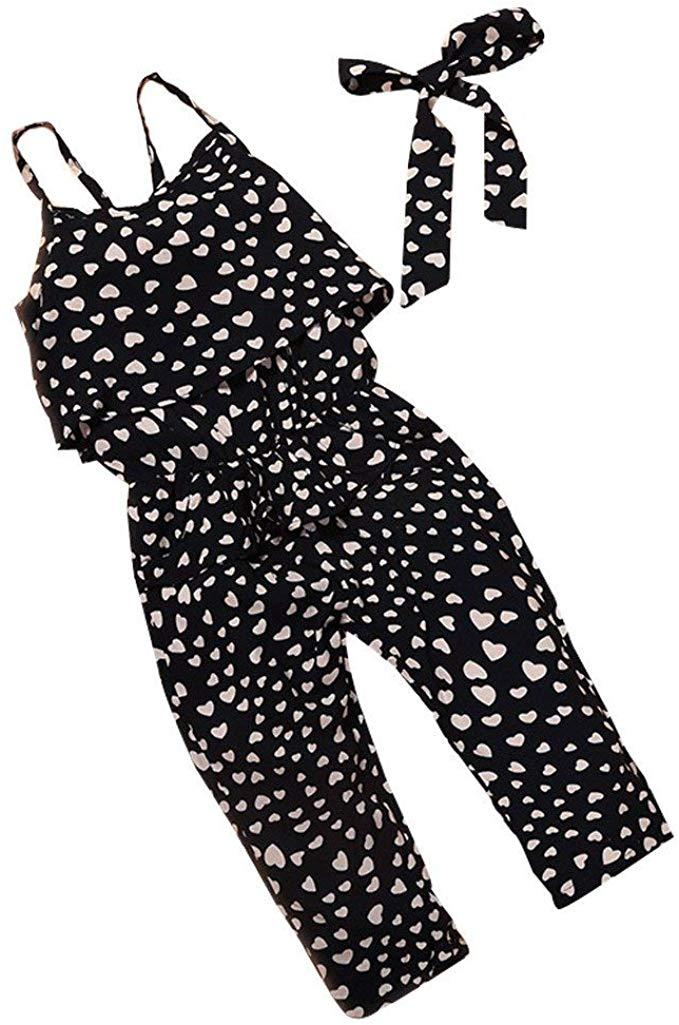 2019 Toddler Little Girls One-Pieces Floral Corset Romper Jumpsuit Harem Pants Overalls