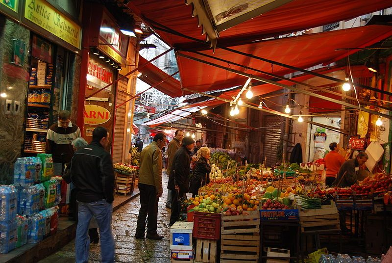 market in palermo in sicily. joe's grandparents are from just outside of palermo and i'd love to visit there!