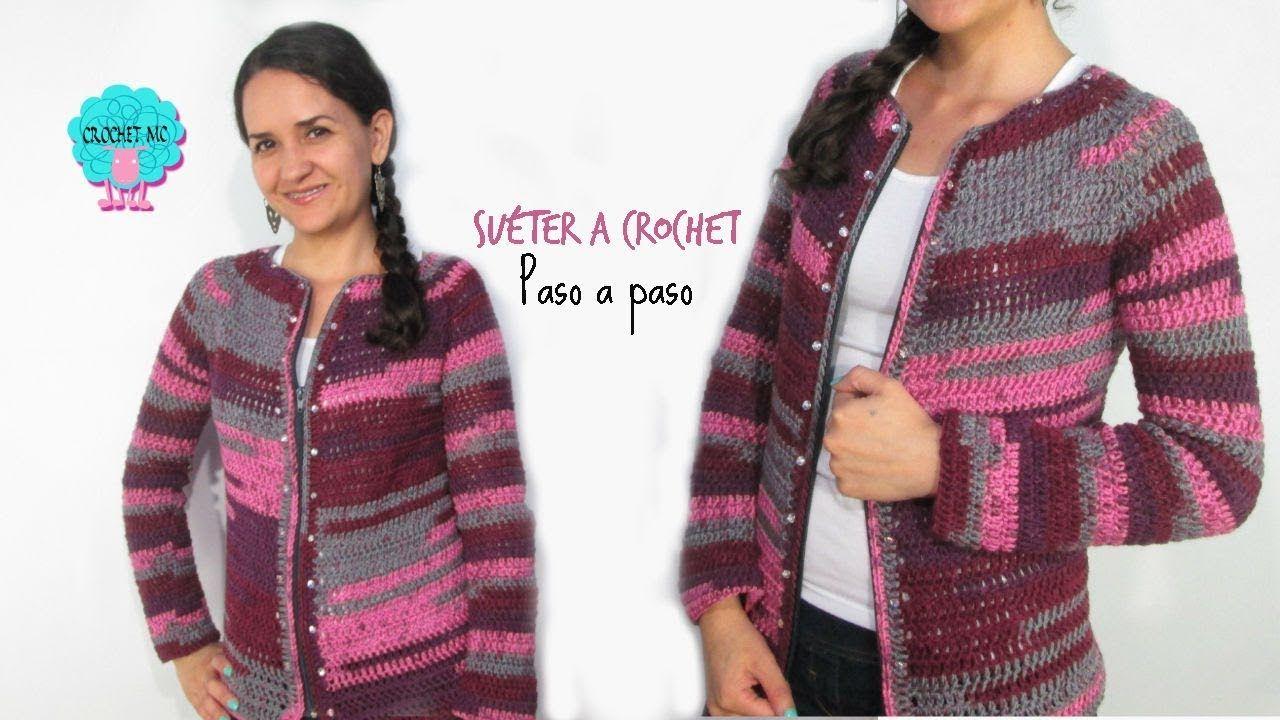 Tutorial Saco Chaqueta A Crochet Fácil Croché Como Tejer Un Sueter Torera Crochet