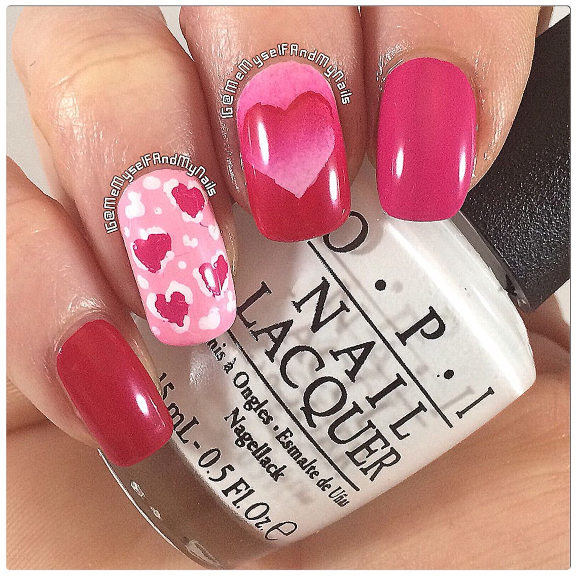 The theme for #veckansopi this week is hearts so I made some valentines day nails! ❤️ Reverse gradient heart with some heart leopard prints! ✌️ #OPI 'Fashion A Bow', 'Pink Flamenco', 'Alpine Snow' and my home made 'Suzi Shops & Island Hops' #polish #nailpolish #laquer #naildesign #weheartit #love #pretty #cute #style #fashion #pinknails #easynails #diynails #heart #leopardnails #gradientnails #valentinesdaynails