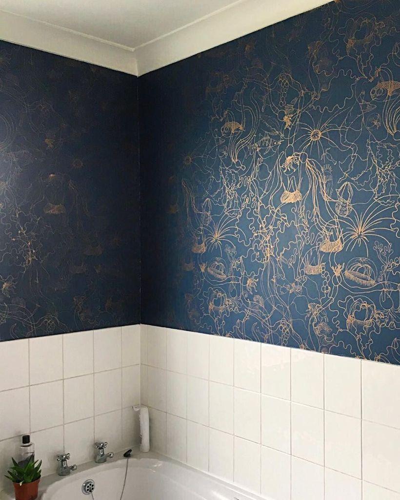 Pattern Stories Bathroom Wallpaper Wallpaper Bedroom Cheap Home Decor