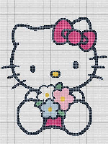 Hello Kitty Crochet Pattern Afghan Graph E Mailedpdf 317