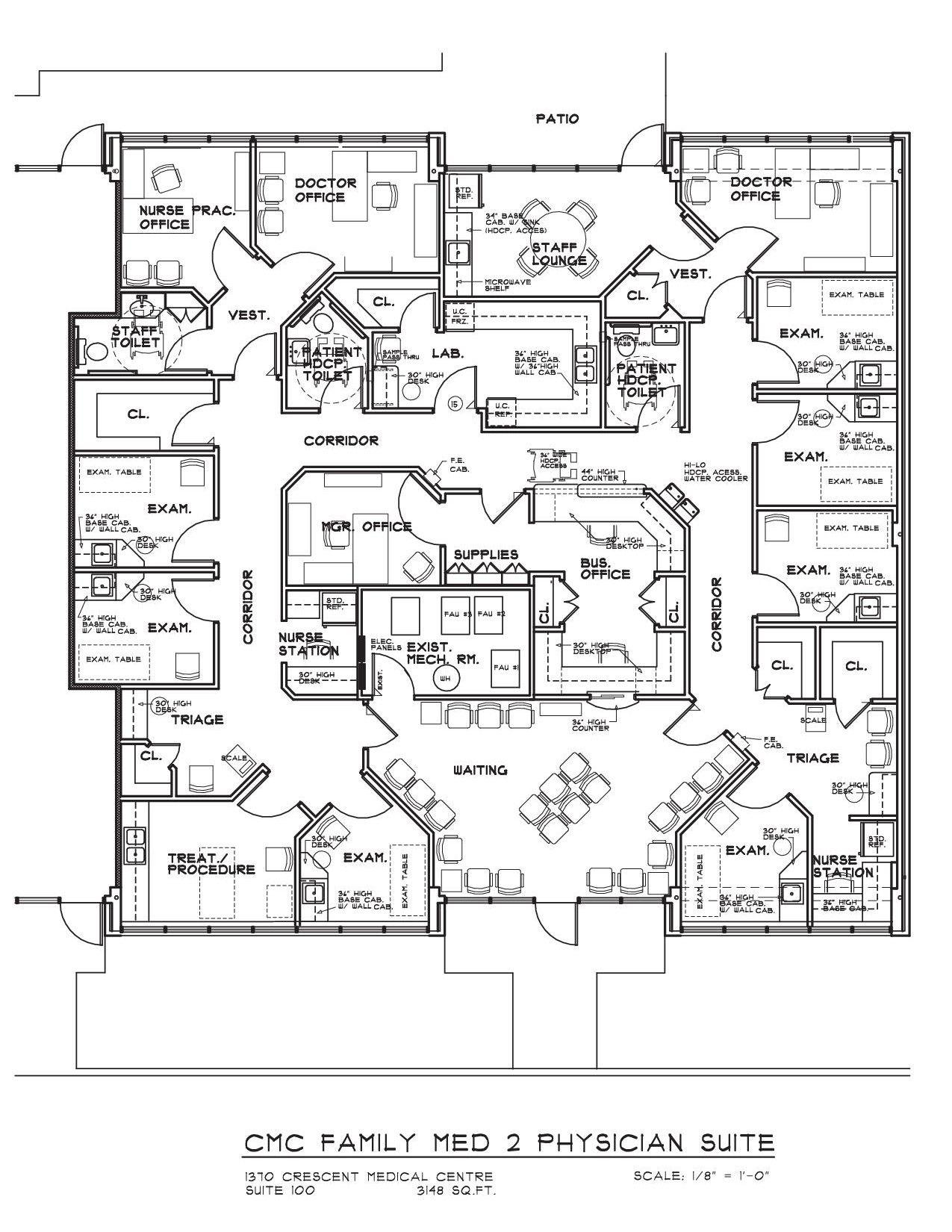 Endoscopy Room Design: 평면도, 건축, 스케치