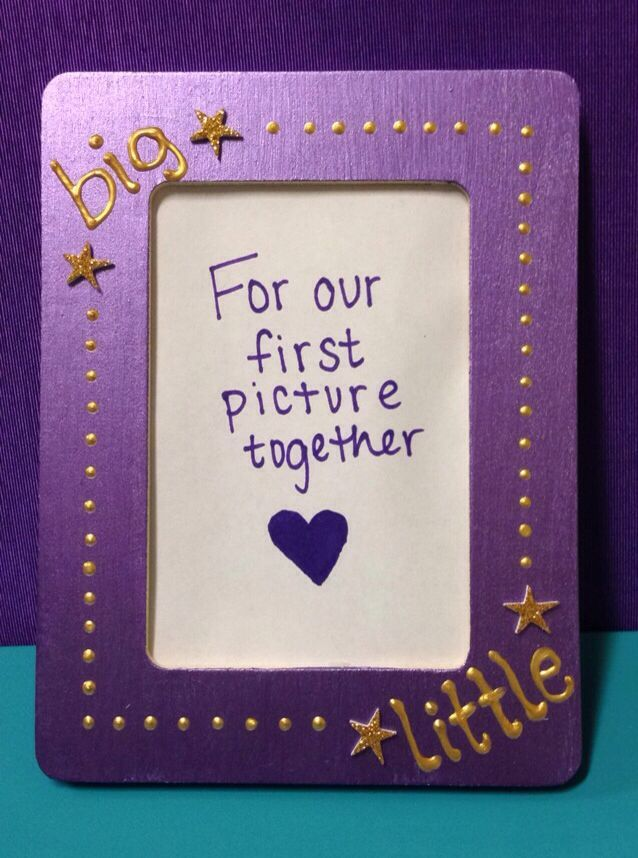 big little picture frame diy biglittle reveal is always a highlight of the sorority