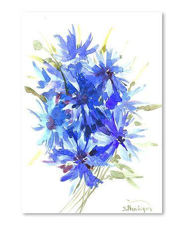 Loving this Blue Corn Flowers Wall Art on #zulily! #zulilyfinds