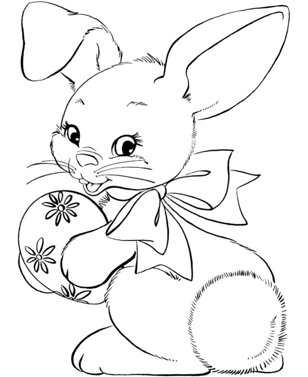 easter bunny face coloring page coloring cartoon Easter