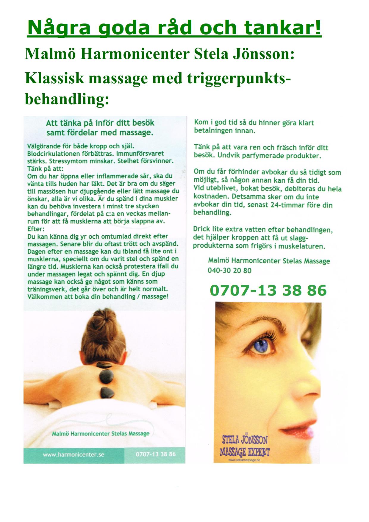 hot stone massage malmö