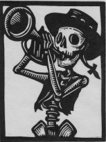 Fine Impressions Gallery Trumpet Tattoo Day Of The Dead Art Trumpet
