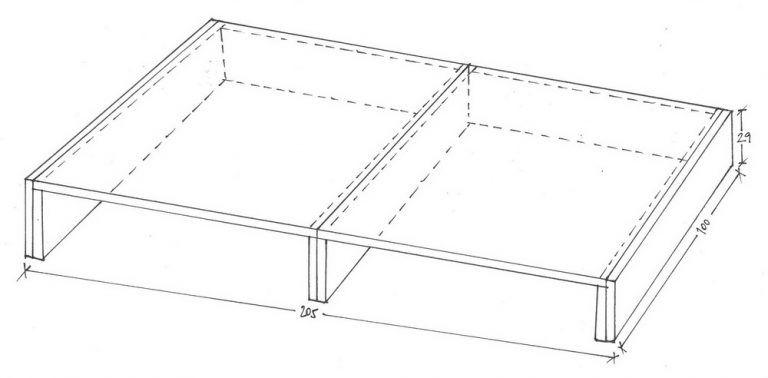 IKEA Kura Hack: Podest Für IKEA Kura Bett Skizze