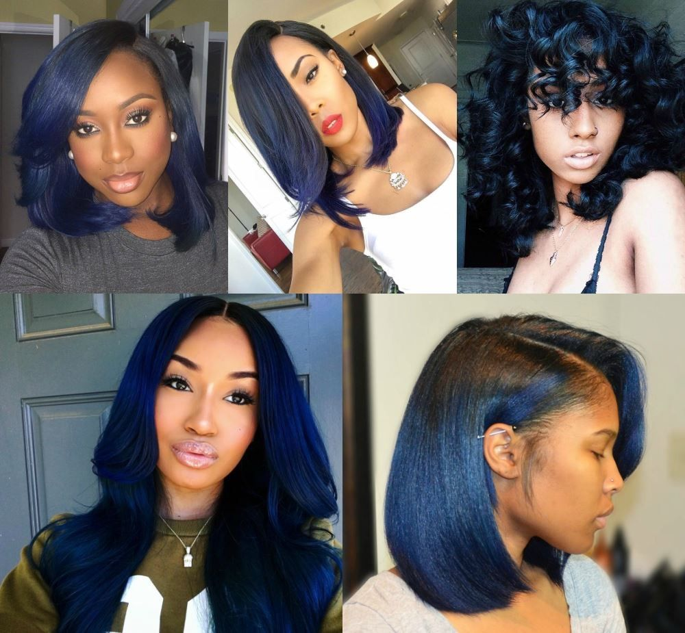 Midnight Blue Hair Midnight Blue Hair Hair Color For Black Hair Blue Hair Black Girl