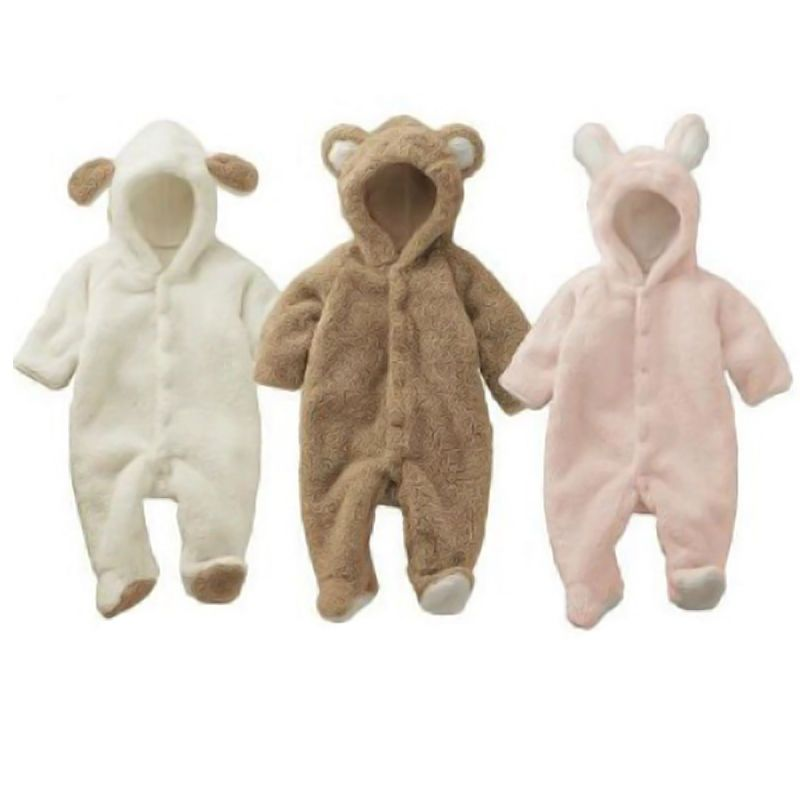 Baby Coming Home Outfit Girl Boy Set Winter Crochet Knit Fall Bear Bodysuits Hooded Gender neutral CoverallsOverallsRomperJumpsuits Suit