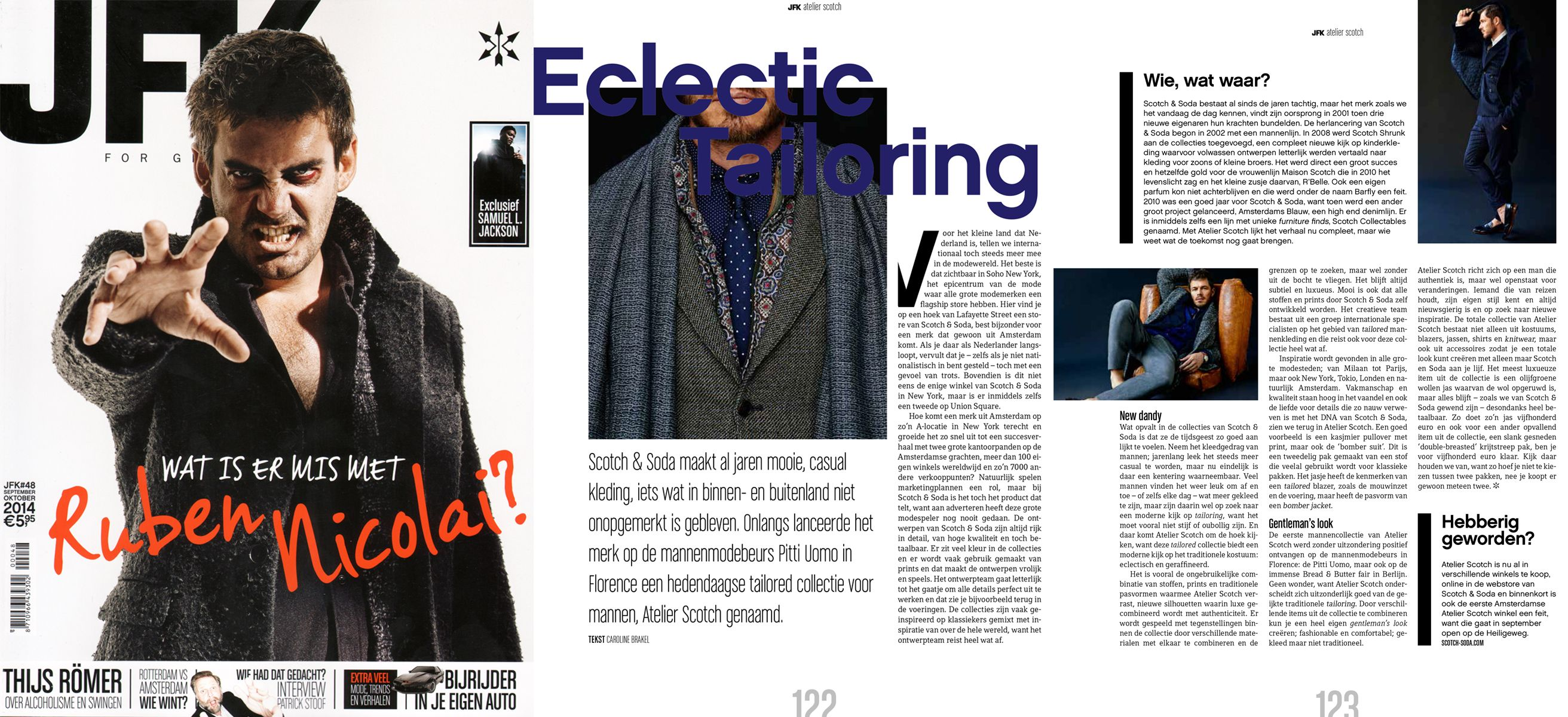 Scotch & Soda featured in JFK NL | September 2014
