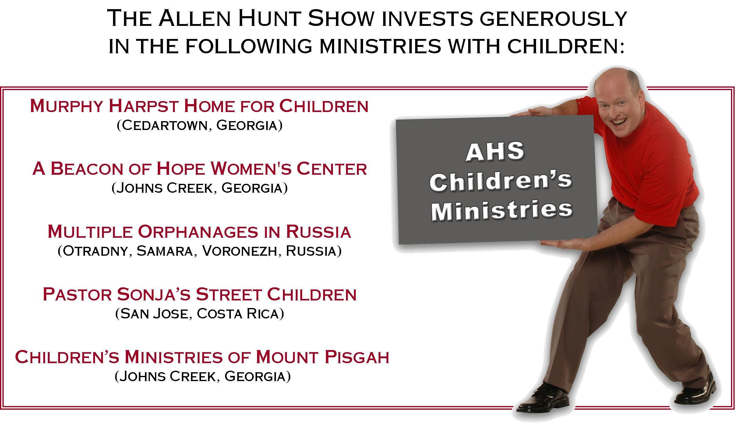 Allen Hunt Show Luncheon Post Card Brand creation