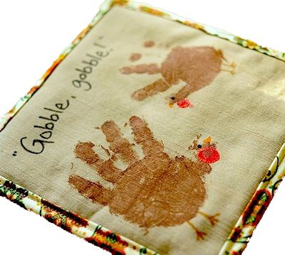 Turkey Hot Pads #handprintturkey