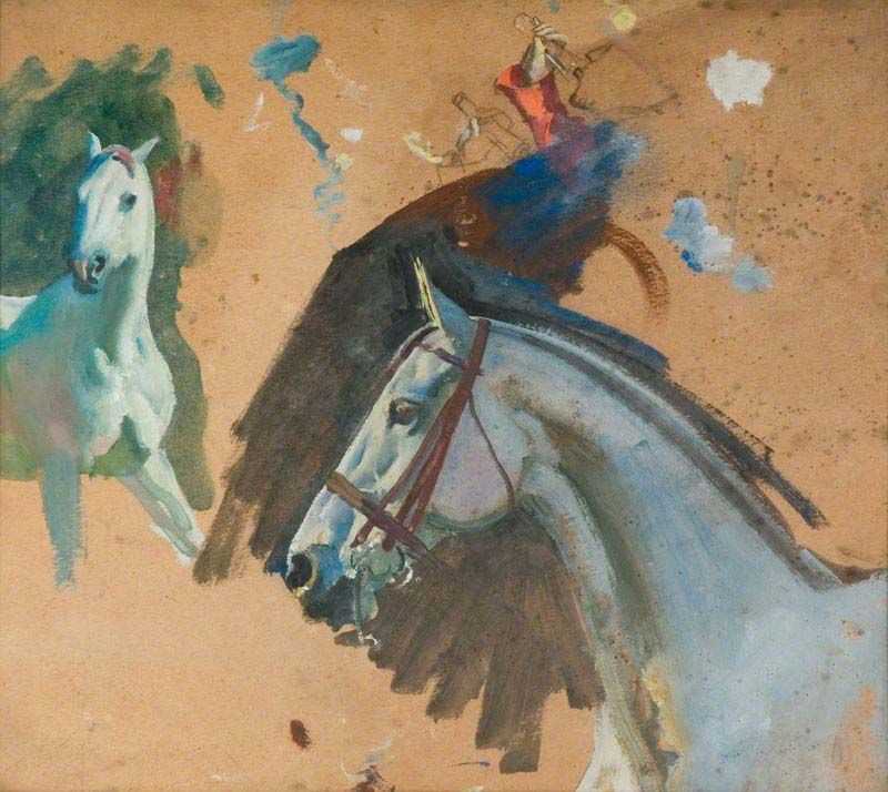 Bbc Your Paintings Studies Of A Grey Mare S Head Loshad Skulptura Kartiny Iskusstvo