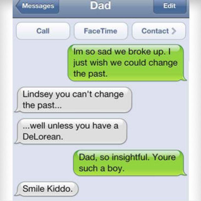 Love Parents shouldn't text...