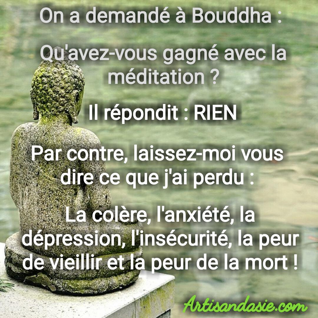 Souvent Citation de Bouddha sur la meditation. Namaste | Proverbes  MI96