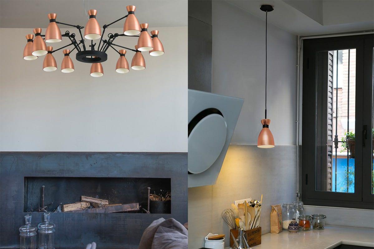 Moderne Lampen 70 : K wie leuchten aus kupfer kupfer moderne