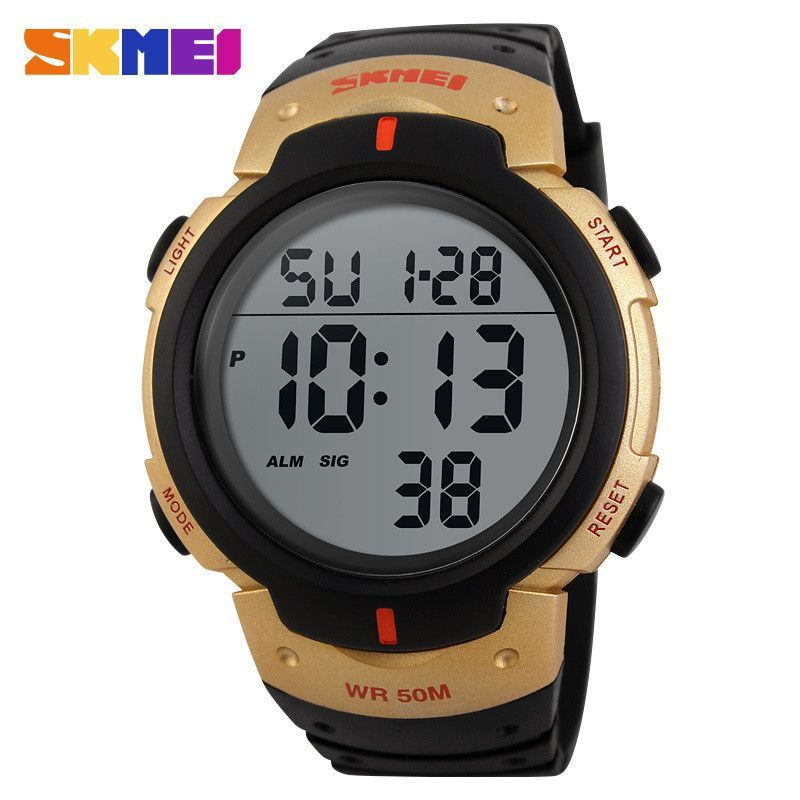Men Sports Watches 50M Waterproof Fashion Casual Digital LED Military Multi-Function Wristwatches
