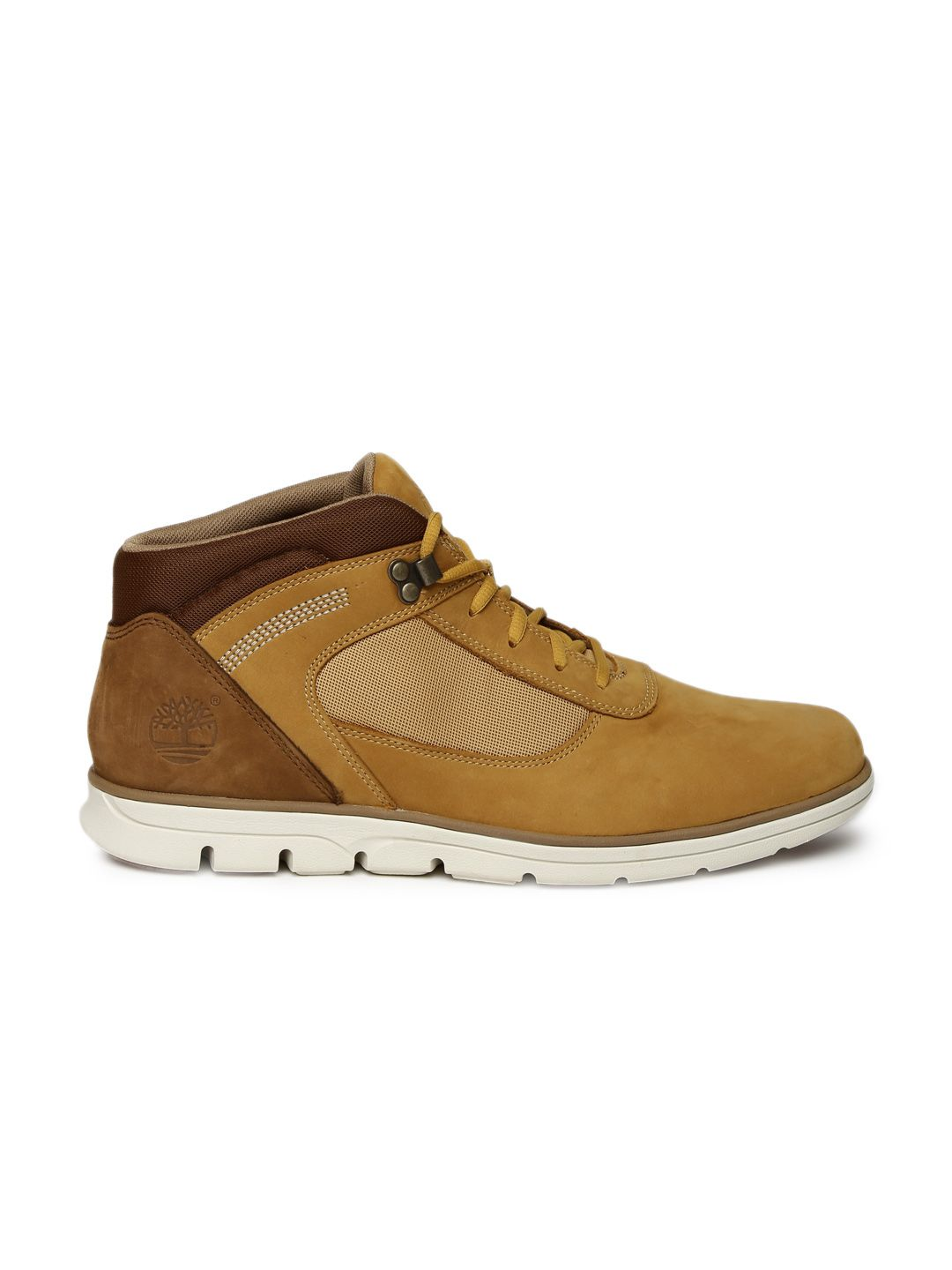 33596b6a3686 Buy Timberland Men Tan Solid Leather BRADSTREET FL HIKER High Top Flat Boots  - Casual Shoes for Men