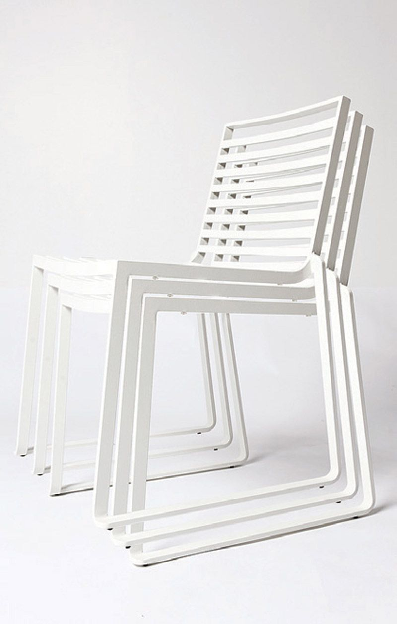 Modern White Outdoor Dining Chairs Design