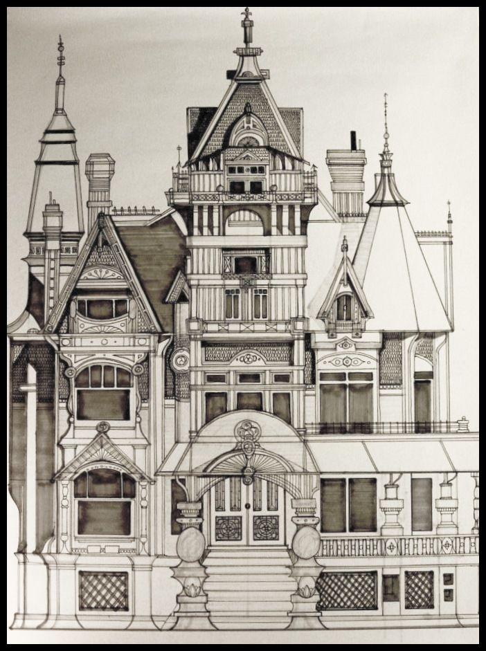 Mansion Drawing: Pin On My Artwork