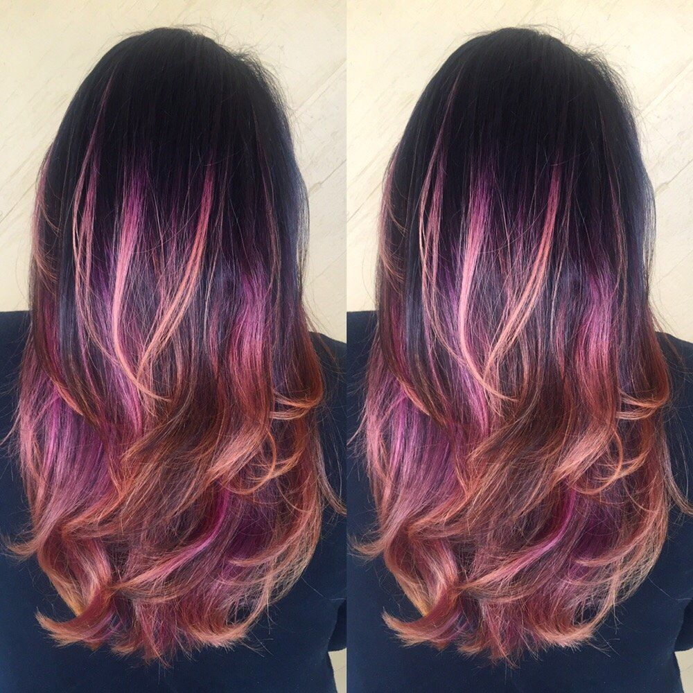 ombre brown pink hair google search hair pinterest