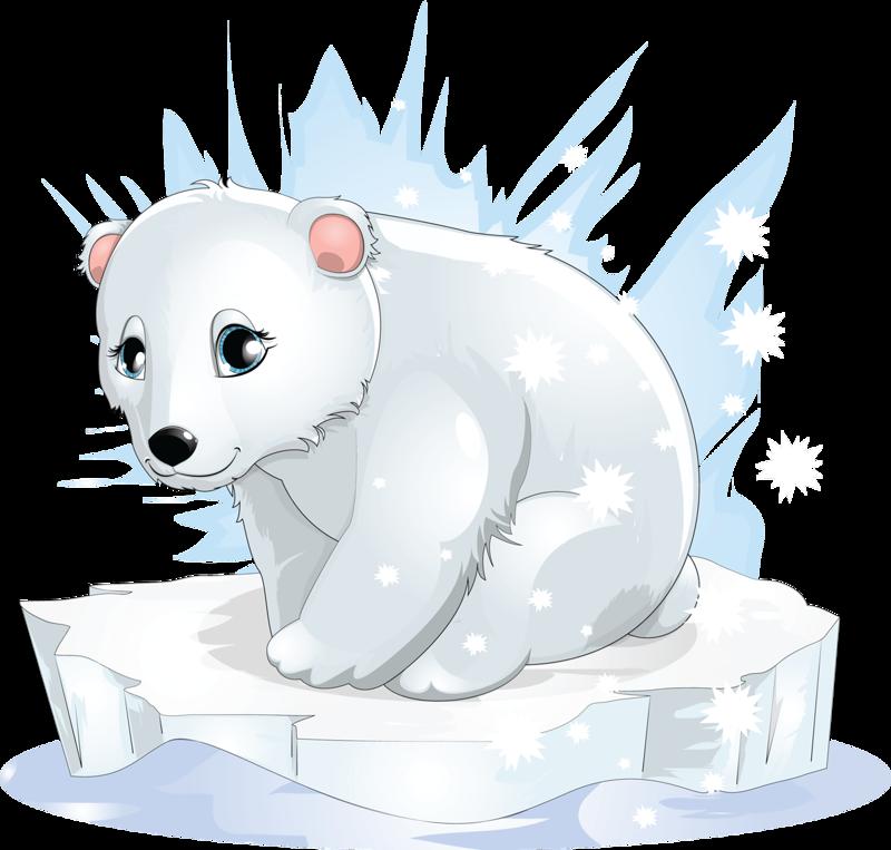 Открытки, белый медвежонок рисунок