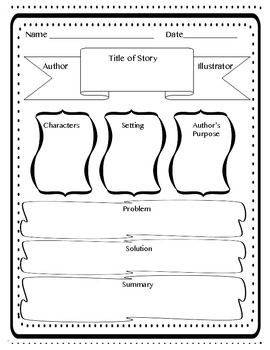 Image result for story elements graphic organizer