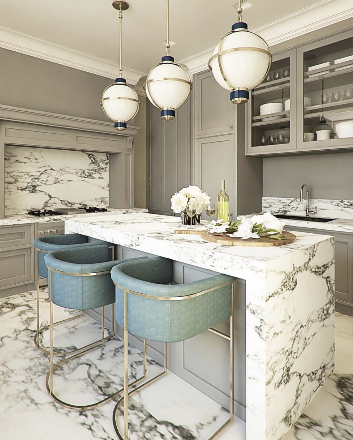 Gorgeous Marble Kitchen Countertops – The Marble Home   Home decor ...