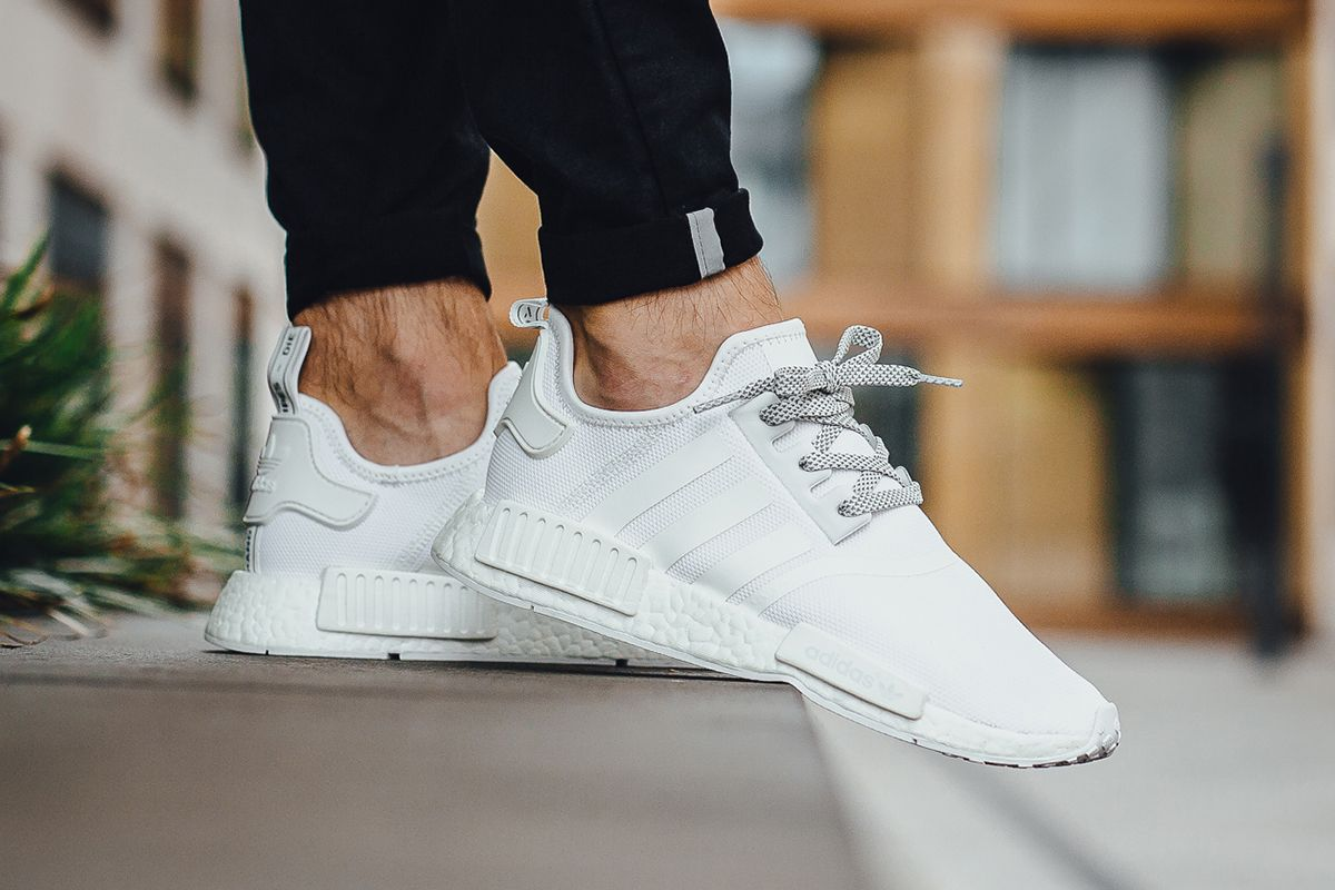 buy online 1bd53 5f1ea On-Foot adidas NMD R1 Triple White - EU Kicks Sneaker Magazine