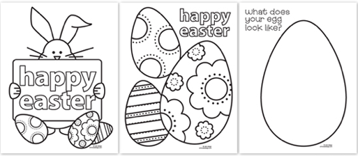 Free Easter Coloring Pagesgoing To Print Some Off And Add Them The Kids Egg Hunt Bags