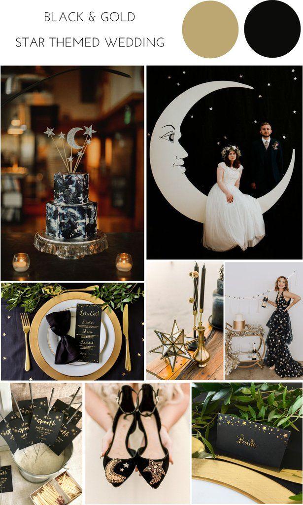 Black & Gold Celestial Wedding Theme – Confetti Sweethearts
