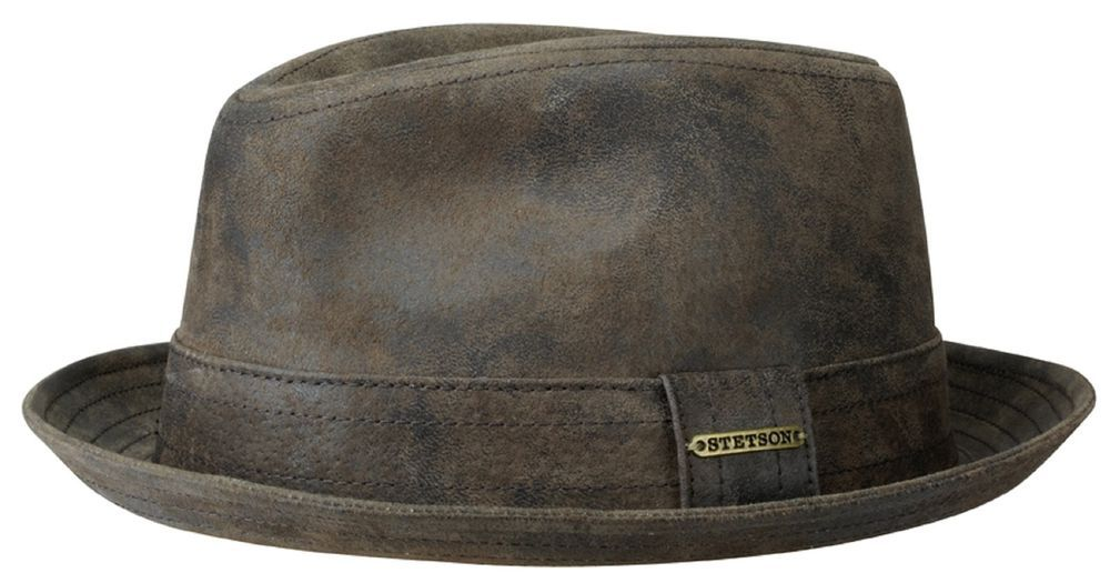 900386b23eb Stetson Leather Pork Pie Hat Hats Player Radcliff 63 Brown Antique S - XXL   fashion  clothing  shoes  accessories  mensaccessories  hats (ebay …
