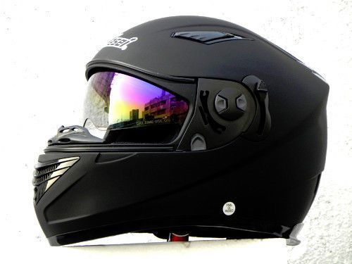 Masei 830 Dot Ece Motorcycle Bike Helmet Flat Black S M L Xl