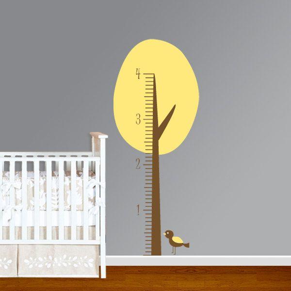 Vinyl Tree Growth Chart Children\'s Nursery Room Decal Sticker ...