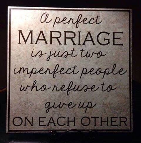 Perfect love, imperfect people  So true, even after almost 40 years