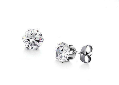 Opk Jewelry Women's Earrings1.26ct Swarovski Element Titanium Steel Stud Earring - http://www.jewelryfashionlife.com/opk-jewelry-womens-earrings1-26ct-swarovski-element-titanium-steel-stud-earring/