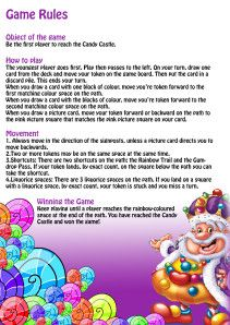 Game Rules Of Candy Land Candyland Candyland Decorations Candyland Rules