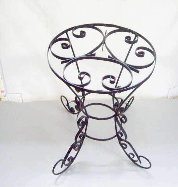 Vintage Wrought Iron Side Table Perfect