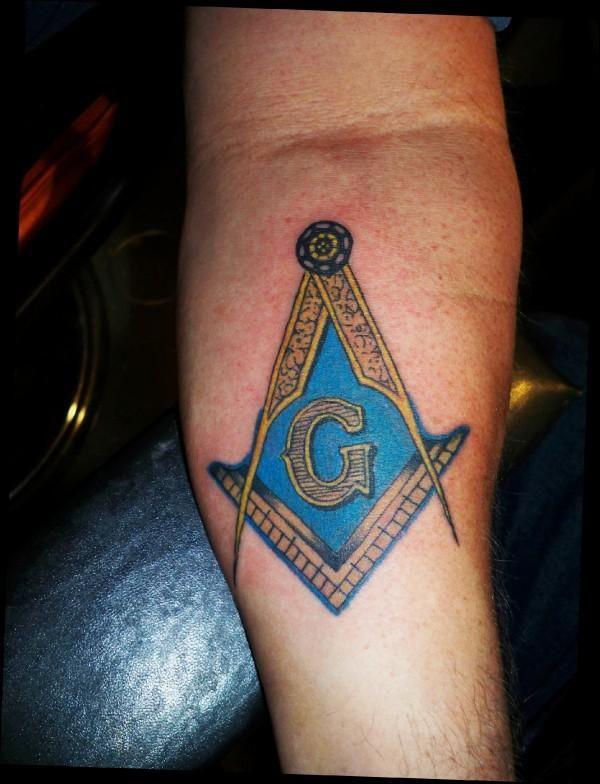 Masonic tattoos freemason the masonic symbol on a for Masonic symbol tattoos