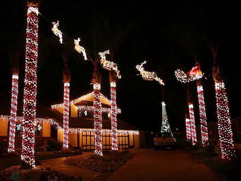 outdoor christmas decorating ideas lights